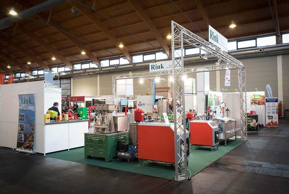 Messestand unseres Kunden Rink auf der Fruchtwelt 2018 in Friedrichshafen.